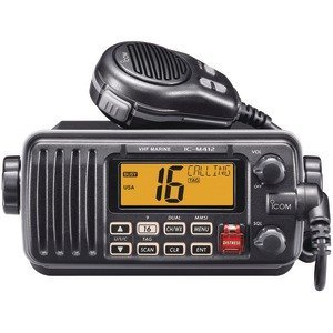 New - ICOM M412 12 FIXED-MOUNT 25W VHF MARINE RADIO WITH CLASS D DSC (WHITE)