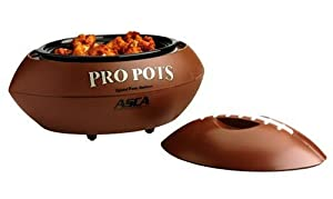Select Brands FB-77 Pro Pots Football-Shaped 1-1/2-Quart Slow Cooker