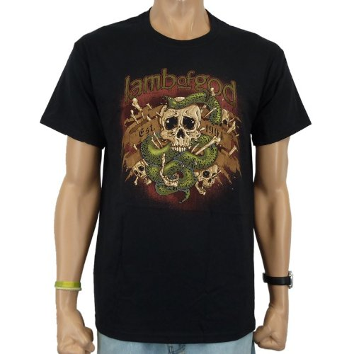 Lamb Of God - T-shirt Venom Band, Nero, Uomo, LAMB OF GOD - VENOM T-Shirt, nero, M