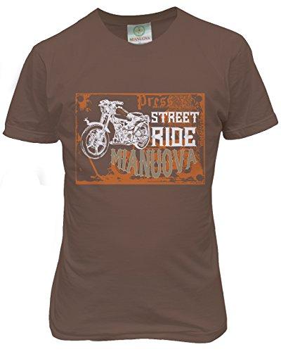 Mianuova-Urban Men's Combo T-Shirt -2014 UMRN 501 - Navy/Half White/Brown - S