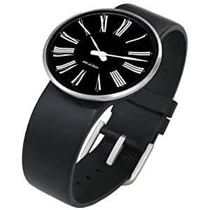 rosendahl arne jacobsen watch black roman dial. Black Bedroom Furniture Sets. Home Design Ideas