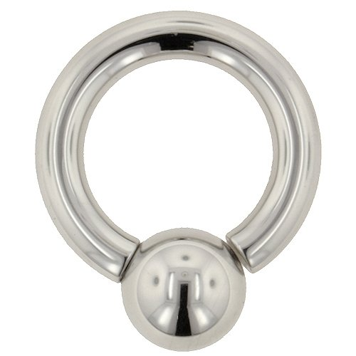 One Stainless Steel Screw On Ball Ring: 4g 1/2
