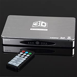 Koolertron V3D-II 3D Converter box Hdmi 1.4 Switcher 3 In 1 Out for DLP Projector Support All 2d 3d Format
