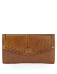 M&S Collection Leather Foldover Flap Purse