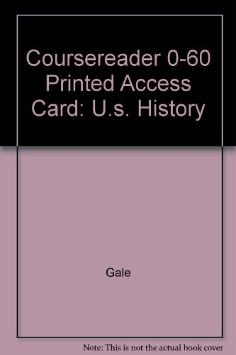 CourseReader 0-60: U.S. History Printed Access Card