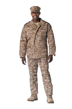 Rothco Mens Desert Digital Camouflage M-65 Field Jacket - Large