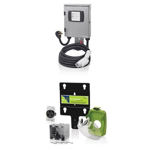 Leviton Evb32-M5L 7.7Kw Charging Station, 25-Foot Cable With 50-Amp Pre-Wire Kit