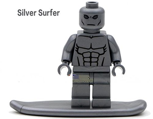 Marvel Super Heroes Silver Surfer Minifigures Building Block figures children toy # ss004