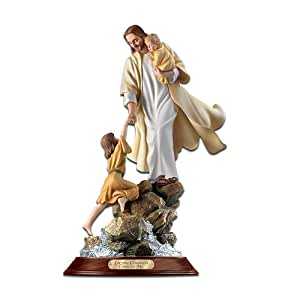 amazon com let the children come to me jesus figurine retired home interior masterpiece porcelain figurine 1992