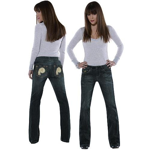 Touch by Alyssa Milano Washington Redskins Ladies Signature Denim Jeans at Amazon.com