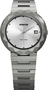 Jowissa Women's J1.174.L Soletta Silver Dial Steel and Tungsten Date Watch