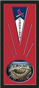 St. Louis Cardinals Wool Felt Mini Pennant & New Busch Stadium Photo - Framed... by Art and More, Davenport, IA