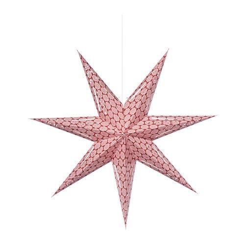 RoomClip商品情報 - IKEA(イケア) STRALA ペンダントランプ, 星 レッド (10310894) 3セット