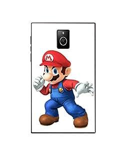 Case Cover Mario Printed White Hard Back Cover For BlackBerry Passport