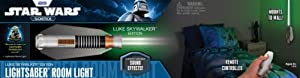 Uncle Milton Star Wars Remote Control Lightsaber Room Light - Luke