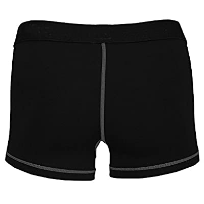 LANBAOSI Women's Spandex Waistband Exercise Authentic Long 8 Inch Compression Shorts from LANBAOSI