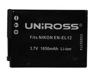 Uniross U0202367 Batterie pour appareil photo Nikon EN-EL12 1050 mAh 3,7 V