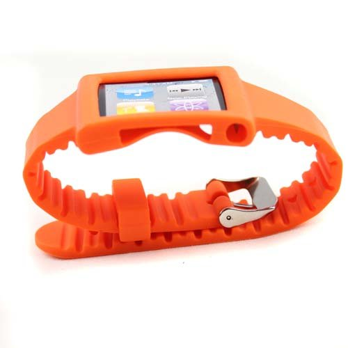 Silicone Wrist Strap Wrist Band Watch Band for iPod Nano 6th Orange