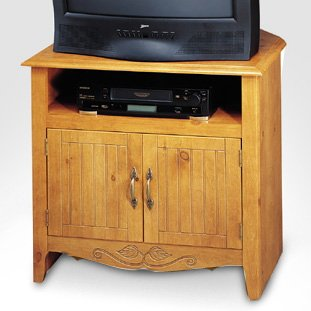 Buy Low Price Corner TV/VCR Cabinet (B00018RNVK)