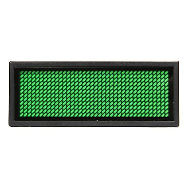 75Mw Green Led Mini Board / Led Name Card With Multi Modes Battery Powered