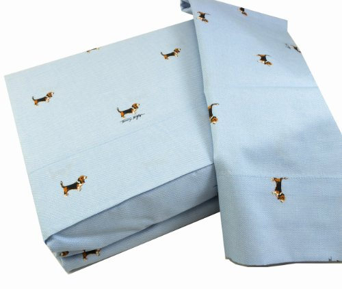 Tommy Hilfiger, Thornton Dogs, 200 Thread Count Cotton Twin Sheet Set Review