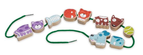 Manhattan Toy Lace-a-Long Developmental Toy, Pets