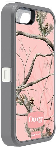 OtterBox Defender Series Case for iPhone 5 - Retail Packaging Protective Case for iPhone - Realtree Camo - AP Pink