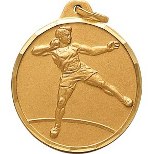Buy 1 1 4 Inch Gold Male Shot Put Medal by CM