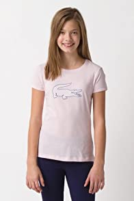 Girl's Short Sleeve Polka Dot Croc T-Shirt