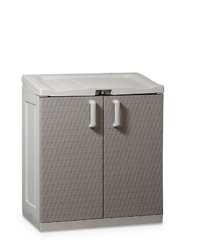 Kunststoffschrank Rattan Line XL, Grau