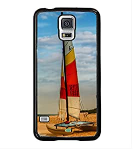 ifasho Boat in a beach Back Case Cover for Samsung Galaxy S5