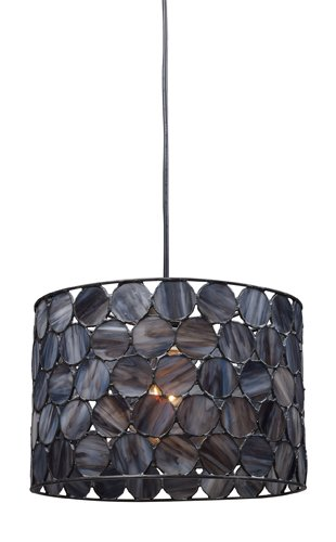 B001SUQC3A Landmark 72002-1 Cirque 1-Light, Pendant, Matte Black, 9-Inch H by 12-Inch W