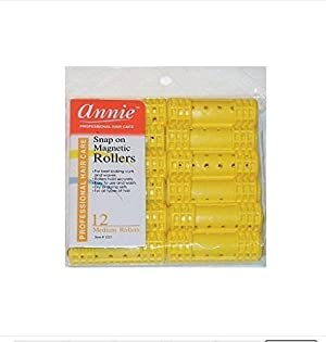 *NEW*Hair Rollers PROFESSIONAL SNAP ON MAGNETIC (MEDIUM) All Sizes - Set Hair Dry or damp by Annie