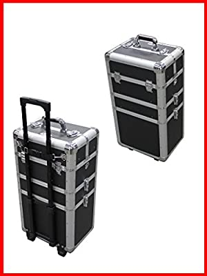 Professional Rolling 3 IN 1 Makeup Case Black