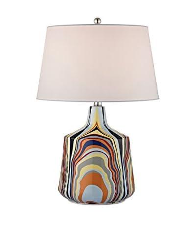 Artistic Lighting Tecnicolor Stripes Ceramic Table Lamp