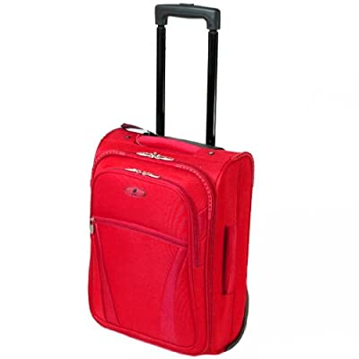 Azure Cabin Approved Super Lightweight Suitcase (Red) by Azure