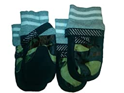 Pet Life Performance Adjustable Boots in Camouflage - One Size Fits All