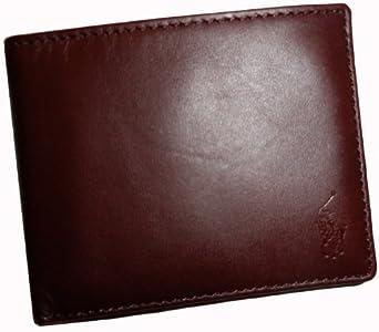 Polo Ralph Lauren Men's Leather Passcase Wallet, Brown
