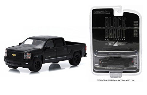 new-164-black-bandit-collection-series-13-black-2015-chevrolet-silverado-1500-diecast-model-car-by-g