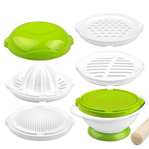 Gland Baby Food Maker,Grinder, Food Mill, Making Homemade Baby Food,DIY,8 in 1, Green (Baby Food Mortar compare prices)