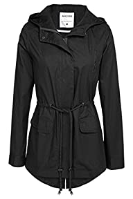 ANGVNS Women Military Hoodie Jacket Coat for Winter-Cotton Blend