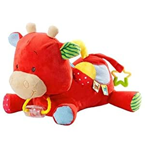 Amazon.com : Minimi Toys - Peluche Vachette Pom Multi-Activité