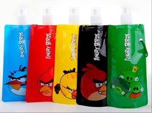 Angry Birds Foldable Freezable & Reusable Water Bottle BPA Free for lunch box