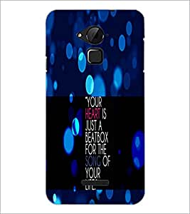 PrintDhaba Quote D-2905 Back Case Cover for COOLPAD NOTE 3 LITE (Multi-Coloured)