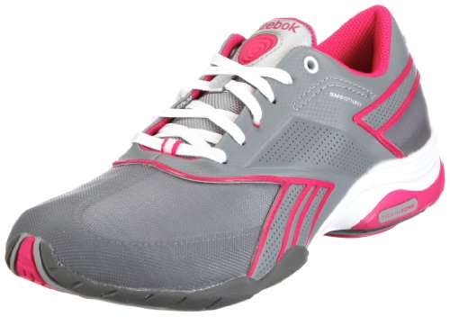 Reebok Traintone Anthlin 150320, Damen Sportschuhe - Fitness, Grau (flat grey/white/overtly pink/rivet grey/slvr 9), EU 38.5 (UK 5.5)