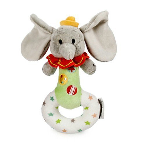 Disney Dumbo Plush Rattle for Baby - 1