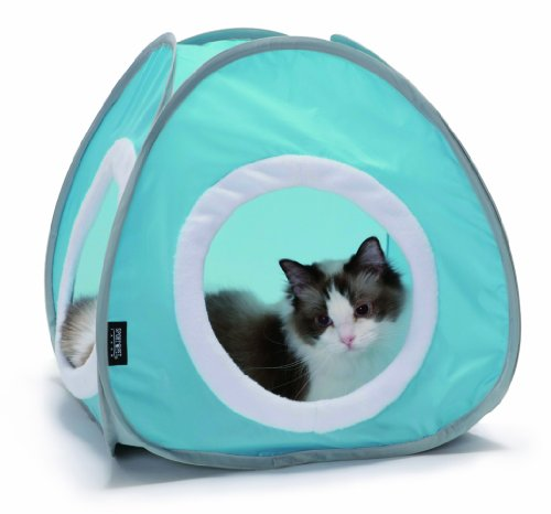 Kitty Cozy Tent with Crinkle Pad (Baby blue)#The Best