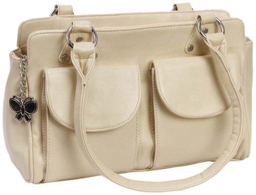 Butterflies Handbag (Cream)(BNS 0256)