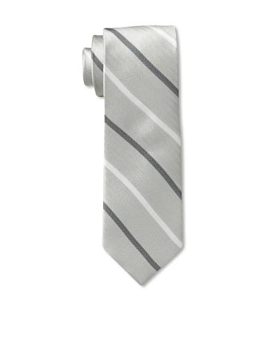 English Laundry Men's Herringbone Stripe Tie, Grey/White