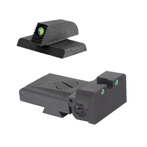 """Lpa Trt Kensight 1911 Sight Set Trijicon Tritium Insert - Night Sights With Rounded Blade - 0.200"""" Tall Front Sight"""